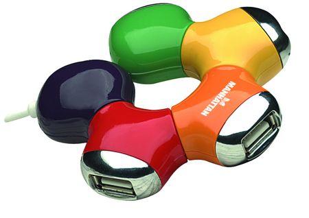 Manhattan USB HUB Flex 4-portni