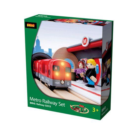 Brio Súprava metra s nástupišťom a koľajnicami
