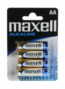 Maxell Baterije LR6 AA, 1,5 V, 4 kosi