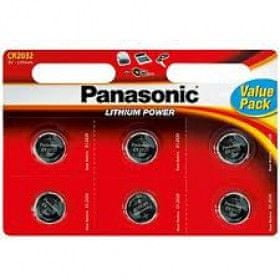 Panasonic Baterije Panasonic Lithium CR-2025L, 6 kos