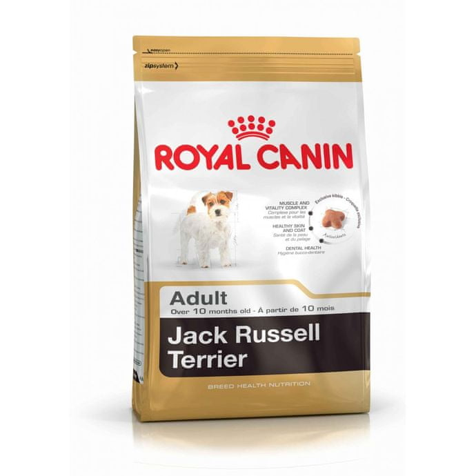 Suha hrana s optimalnom sastavom za odrasle pse pasmine russell terrier