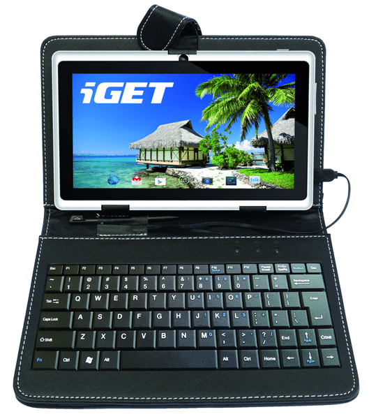"""iGET F7B Pouzdro 7"""" s klávesnicí, černé"""