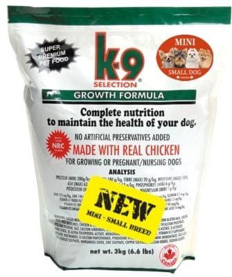 K-9 sucha karma dla szczeniąt Growth Small Breed 3 kg
