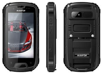 Aligator RX430 eXtremo Dual SIM, černá - II. jakost