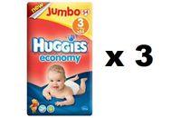 Huggies Economy 3 Jumbo (3x54 szt) - 162 szt