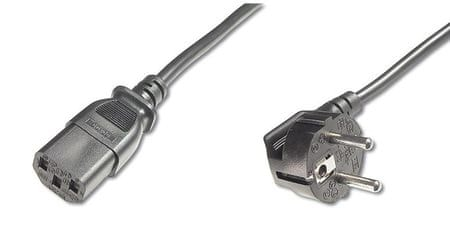 PremiumCord Kabel síťový 230V k počítači, 3 m