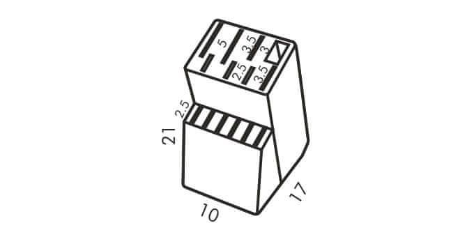 Tescoma Blok WOODY pro 13 nožů a nůžky/ocílku (869508)