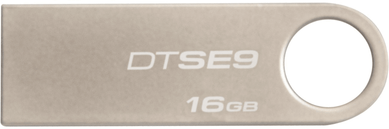 Kingston DataTraveler SE9 16GB / USB 2.0 / Metal (DTSE9H/16GB)
