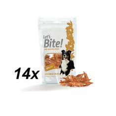 Brit Care Lets Bite Chicken & Cheese - 14 x 80g
