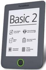 PocketBook 614 Basic 2 Dark Grey + 100 knih ZDARMA!