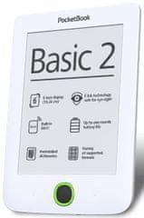 PocketBook elektronski bralnik 614 Basic2, bel