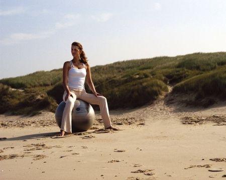 Sissel Žoga za vaje ravnotežja Securemax Exercice Ball, premer 65 cm Srebrna