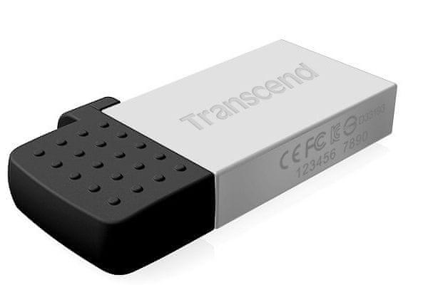 Transcend JetFlash 380 OTG 16GB stříbrný (TS16GJF380S)