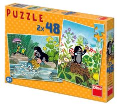 Dino Krtek puzzle, 2x 48 dílků