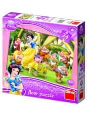 DINO Snehulienka podlahové puzzle, 24 dielikov