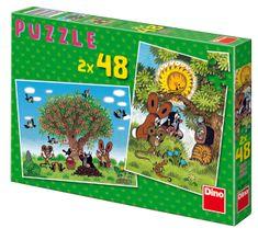 DINO Lato z Krecikiem puzzle, 2x 48 szt