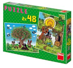 DINO Leto s Krtkom puzzle, 2x 48 dielikov