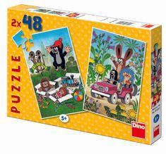 DINO Krtko sa raduje puzzle, 2x 48 dielikov