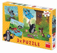 DINO Krtko a nohavičky puzzle, 3x 55 dielikov