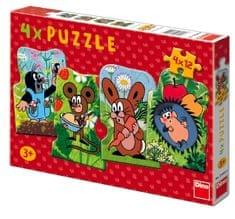 DINO Kisvakond Puzzle, 4in1, 4 × 12 db