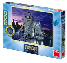 DINO Tower Bridge neon puzzle, 1000 dielikov
