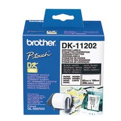 Brother Nalepke Brother DK-11202 62x100mm (300 nalepk v roli)
