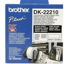 Brother Termalne nalepke Brother DK22210, 29 mm x 30,48 m