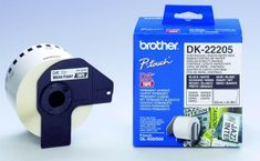Brother Termalne nalepke Brother DK22205, 62 mm x 30,48 m