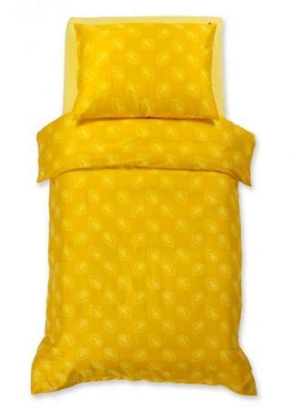 Odeja Harmony posteljnina, 200 x 140 cm + 60 x 80 cm, rumena