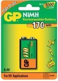 GP Baterija NiMH 9V 170 mAh