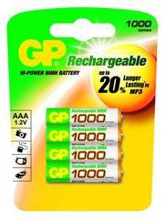 GP Baterije NiMH AAA 1000 mAh 4 kom