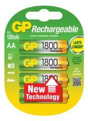 GP Baterija Ni-Mh velikost AA (1800 mAh), 4 kosi