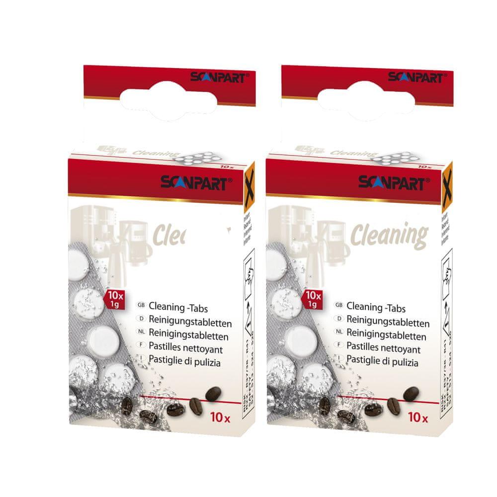Scanpart čisticí tablety pro kávovary, 2x 10 ks