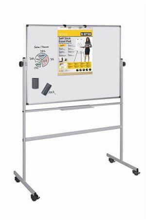 Bi-Office magnetna tabla Professional, vrtljiva, 120 x 150 cm