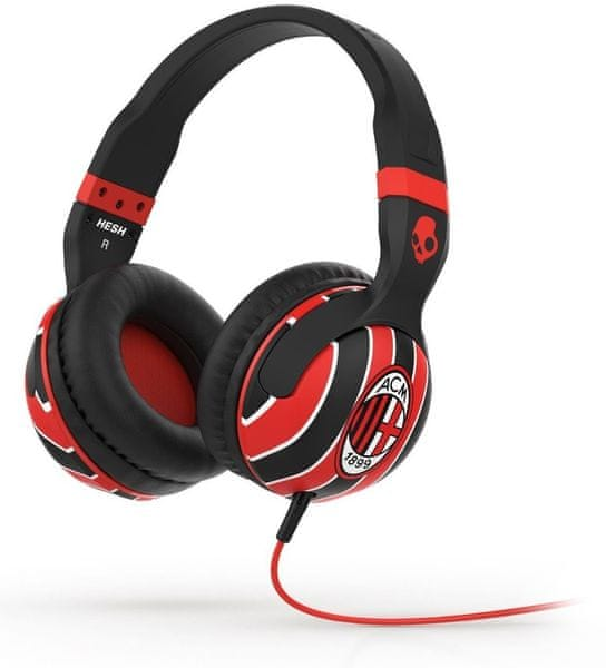Skullcandy HESH 2.0 s mikrofonem AC Milan (Black/Red)