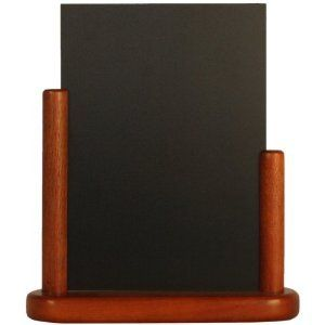 Securit Namizna črna kredna tabla Elegant, lesen okvir, 10 x 15 cm