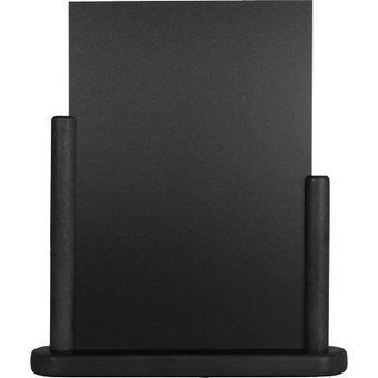 Securit Namizna črna kredna tabla Elegant, črn okvir, 15 x 21 cm