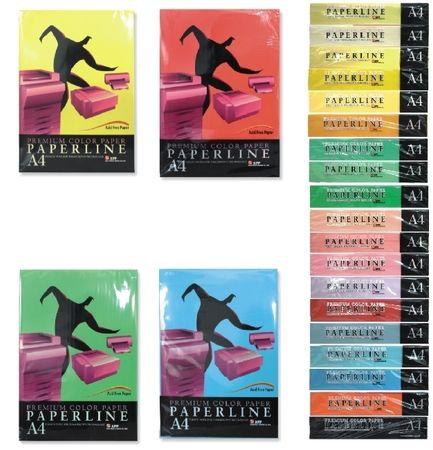Paperline Barvni pisarniški papir A4, 500 listov, rumeno-zelen