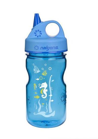 Nalgene Grip-N-Gulp steklenička, 350 ml, modra, morski konjiček
