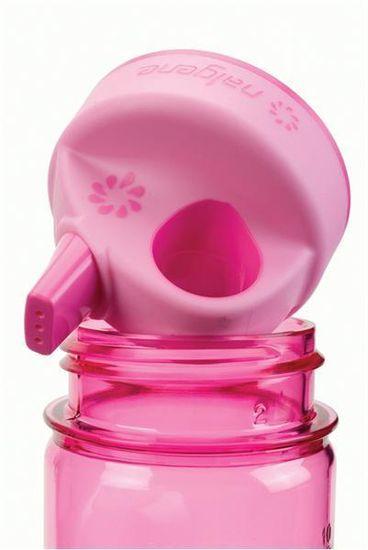 Nalgene Grip-N-Gulp steklenička, 350 ml, roza, rože