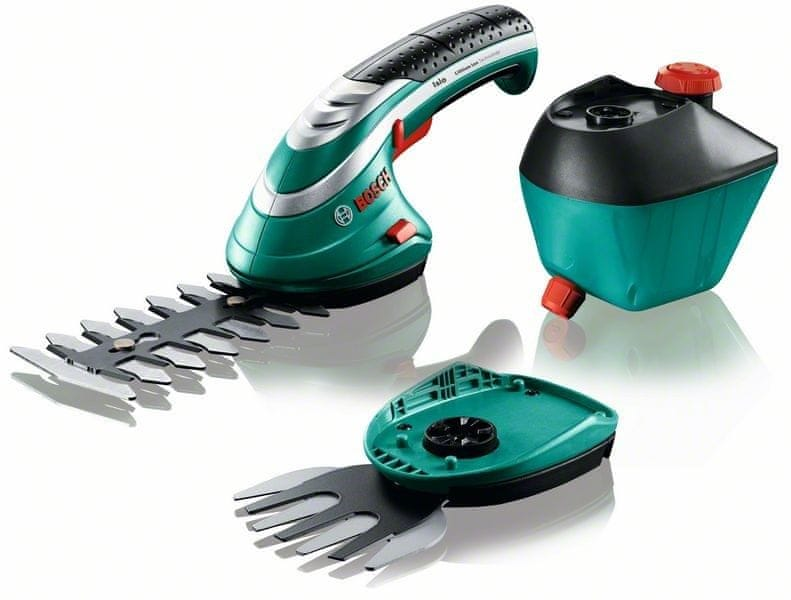 Bosch ISIO 3, nůžky na keře + lišta na trávu + rozprašovač