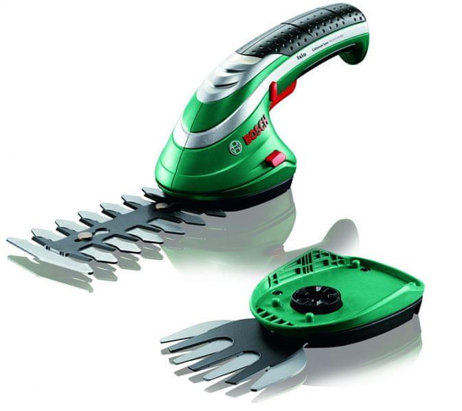 Bosch ISIO 3, nůžky na keře + lišta na trávu