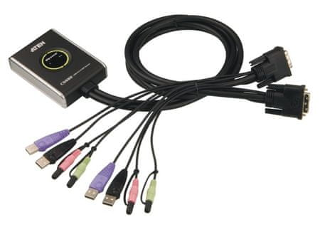 Aten Preklopnik CS682 DVI/USB/AUDIO za nadzor dveh računalnikov