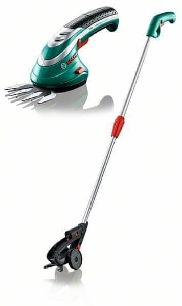 Bosch ISIO 3, nůžky na trávu + teleskopická rukojeť