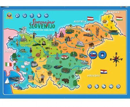 Modri Janko interaktivni zemljevid Slovenije