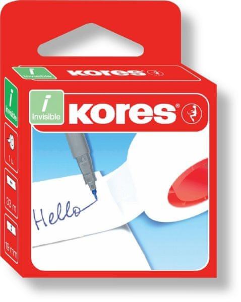 Lepicí páska bankovní 19 mm x 33 m popisovatelná Kores
