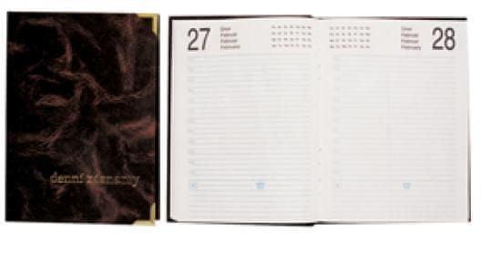 Denní záznamy A6 s růžky, 180 listů