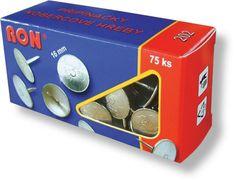 Připínáčky - kobercové hřeby 202 - průměr 16 mm, délka 15 mm