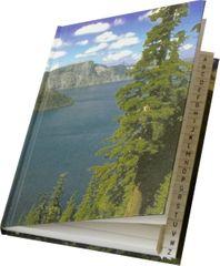 Záznamní kniha s registrem A5 linkovaná, 96 listů