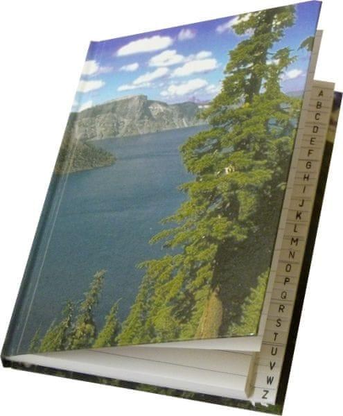 Záznamní kniha s registrem A5 linkovaná, 100 listů